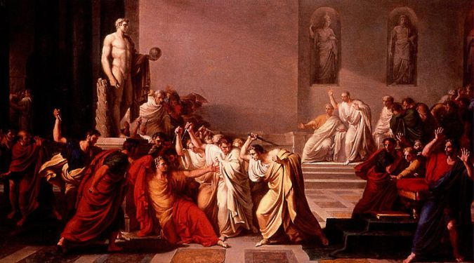 Ides of March assassination scene