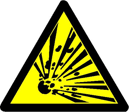 when installing electrical compoenents in explosive environments, watch out for this warning sign