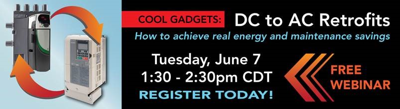 DC to AC Drive retrofit free webinar June 7
