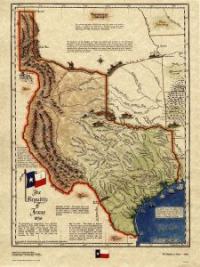 Map of the Republic of Texas